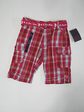 Shorts Size 10 U.S. Polo Assn. Girl Pink Plaid Bermuda casual children clothes