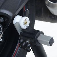 R&G White Cotton Reels/Paddock Stand Bobbins for Kawasaki ZX10-R & Suzuki SV650