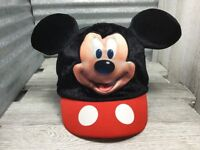 Mickey Mouse Base Ball Cap Brim Elastic Sizer Hat Unsex Youth Black Red
