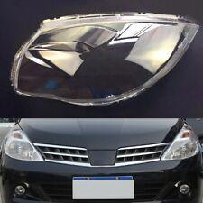 For Nissan Tiida 2008 ~ 2010 Transparent Car Headlight Headlamp Clear Lens
