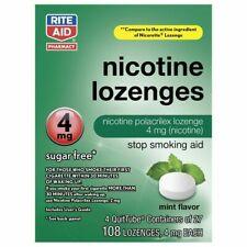 Nicotine Lozenges 4mg Mint 108 Lozenges 4 Quit Tubes of 27, Sugar Free Exp 2/21
