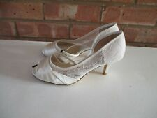 Debut Wide Fit Ivory Lace D'Orsay Wedding Bridal Occasion Shoes - Size 6 - New