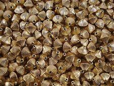 Beads Decorative Bicones Gold 50pc Plastic Jewellery Spacer FREE POSTAGE