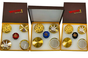 WOW metal grinders Christmas gift pack 2 grinders Xmas present