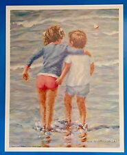 *Vintage* BIG SISTER Little Boy & Girl IVAN ANDERSON Large 16 x 20 1980's Print
