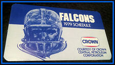 1979 ATLANTA FALCONS CROWN GASOLINE FOOTBALL POCKET SCHEDULE FREE SHIPPING