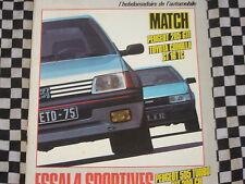 AUTO-HEBDO 1984 PEUGEOT 205 GTI + 505 TURBO / CITROEN VISA 1000 PISTES