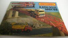 MATCHBOX KATALOGUS  CATALOGUE FOLDER BROCHURE  1981/1982