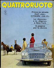 AA] QUATTRORUOTE N° 125 - MAGGIO 1966 - PROVE FIAT 124 E CITROEN DS 21