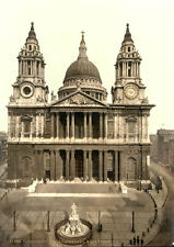 "PS12 Vintage 1890's Photochrom Photo - St. Paul's Cathedral - Print A3 17""x12"""