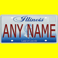 License plate, golf cart, mobility scooter - Illinois design, custom, any name
