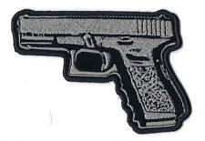 45 CALIBER HAND GUN PISTOL HIGH QUALITY EMBROIDERED PATCH