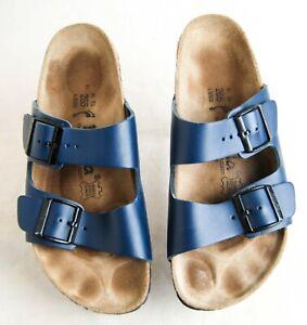 Betula Arizona Birkenstock Women's 10 N 41 Birko-Flor Blue Sandals
