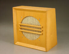 MID CENTURY BLOND WOOD CABINET WALL DESKTOP SPEAKER 2-WAY NEW JBL SONY DRIVERS