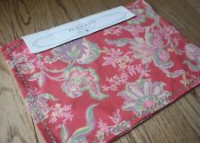 April Cornell ~ Set of 4 Placemats Jacobean Paisley Floral Pretty Salmon Pink