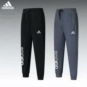 Adidas Men's Tracksuit Bottoms Joggers Running Track Pants Trousers