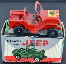 MAXWELL Company Calcutta India Mini Firefighting Diecast JEEP No. 608 IN BOX
