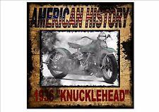Harley Davidson Knucklehead Vintage Style Retro Metal Sign American History
