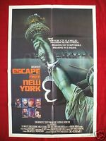 ESCAPE FROM NEW YORK * 1981 ORIGINAL MOVIE POSTER *RARE ADVANCE 1SH*  HALLOWEEN