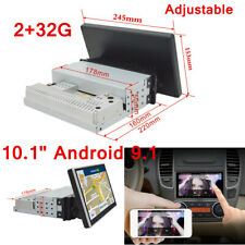 """10.1"""" 1 Din Android 9.1 Quad-core 2+32G Car Stereo GPS WIFI DAB Mirror Link"""