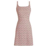 J CREW  Parasol Pink  Jacquard Stretch Strappy Mini Dress 2 Petite NWT