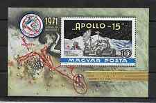 HUNGARY - 1972 - SPACE RESEARCH - Apollo 15 - Scott #C315 - Air Mail Souvenir Sh