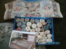Vintage Glorafilia Rug Kit size 33x53 inches part completed