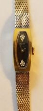 Vintage Womens Longine Watch 10K Gold Filled Diamond Accent Hand Wind-Kestermade