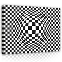 Leinwand Bild Wandbilder Bilder XXL Abstrakt 3D Optische Schwarz weiß Ausblick 9