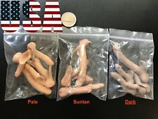 "5 x BIG 1/6 Scale Male Dark Skin Genitals Penis For 12"" Male Body Phicen ❶USA❶"