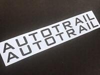 2 AUTOTRAIL Logo Caravan Motorhome Stickers Decals Graphics Choice of Colours