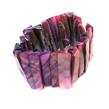 Bright Colourful Shell Bracelet Natural Jewellery Stretchy Xmas Festival Glam323