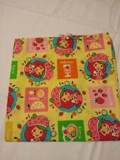 40x22 Toddler daycare cot sheet 1 strawberry shortcake print