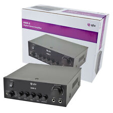 QTX KAD-2 Digital Stereo Mixer Amplifier Background Music Speaker PA System DJ