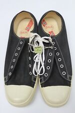 1950s DEADSTOCK Big A Canvas Sneakers Black White 12 USA Shoes RARE Vintage NEW