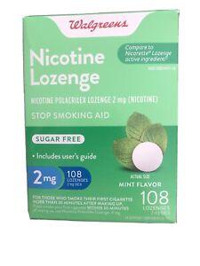 Walgreens Nicotine Lozenge 2mg Mint Flavor 108 count Sugar-Free Exp 12/2021
