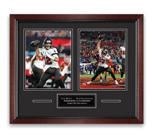 Tom Brady & Rob Gronkowski Super Bowl Unsigned Photo Framed to 16x20 Buccaneers