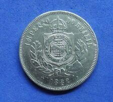 LB) Brazil Brasil -  200 Reis 1882 KM#478  NICE COIN