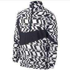 Nike Woven Big Swoosh Half Zip Vapor Wave Mens Size XL Windrunner Black White