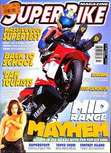 SUPERBIKE Magazine July 2002 ST1300 GSX-R600 ZX-636R 748S YZF-R6 CB600F TT600