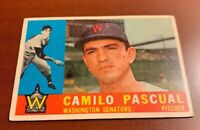 1960 Topps # 483 Camilo Pascual Washington Senators Baseball Card