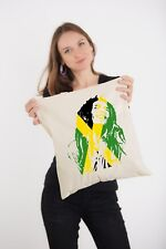 Bob Marley Jamaican Flag Art reggae god Natural Tote Shoulder Shopping Bag