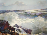 Lithograph Picture Ocean Sea Art A.J. Shelton GOES GP 10988 Litho in USA Print