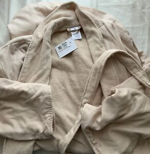 HOTEL COLLECTION BEIGE SPA ROBE LARGE/EXTRA LARGE 100% COTTON NEW WITH TAGS