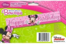 MINNIE MOUSE BANNER BIRTHDAY PARTY SIGN BOW-TIQUE 150CM X 30CM LOOT LOLLY BAG