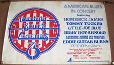 TOMMY TUCKER EDDIE GUITAR BURNS AMERICAN BLUES CONCERT POSTER CARDIFF APRIL 1975