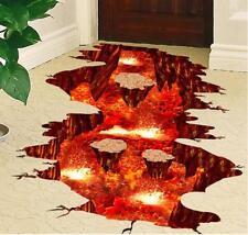 Wandtattoo Boden Aufkleber 3D Vulkan Magma Volcano XXL Wand Aufklebe Wandsticker