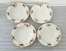 Vintage Bowls 4 x Lord Nelson Bom Birds Swallow Tit Finch Flowers