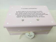 Shabby Personalised Chic Jewellery Box Gift Daughter Who Is A Bridesmaid Wedding