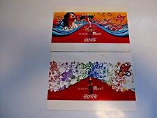 2 CHINA COCA COLA 2008 OLYMPIC POST CARDS-DIVING PLAYER GUO JINGLING,& GAMES